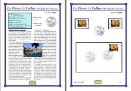 Planche Album Expo : France 2002 : 3497  Phare De Collioure D'André Derain - Afgedrukte Pagina's