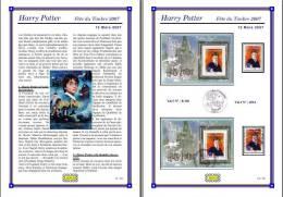 Planche Album Expo : France 2007 : B106 & 4024, Harry Potter Fête Du Timbre 2007 - Albums & Reliures