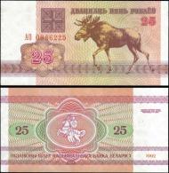 Belarus 1992 25 Rublei Banknotes Uncirculated UNC - Billets