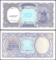 Egypt 10 Piastres Mosque Banknotes Uncirculated UNC - Unclassified
