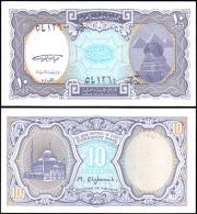 Egypt 10 Piastres Mosque Banknotes Uncirculated UNC - Bankbiljetten