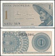 Indonesia 1964 1 Sen Banknotes Uncirculated UNC - Bankbiljetten