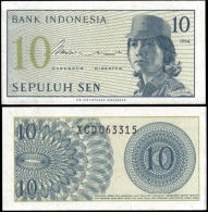 Indonesia 1964 10 Sen Banknotes Uncirculated UNC - Unclassified