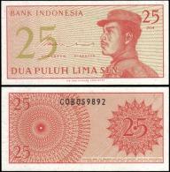 Indonesia 1964 25 Sen Banknotes Uncirculated UNC - Unclassified