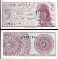 Indonesia 1964 5 Sen Banknotes Uncirculated UNC - Bankbiljetten