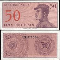 Indonesia 1964 50 Sen Banknotes Uncirculated UNC - Bankbiljetten