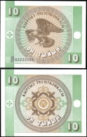 Kyrgyzstan 10 Tiyin Eagle Banknotes Uncirculated UNC - Unclassified