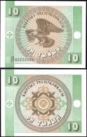 Kyrgyzstan 10 Tiyin Eagle Banknotes Uncirculated UNC - Banknotes