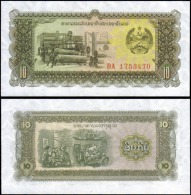 Laos 10 Kip Banknotes Uncirculated UNC - Banknotes