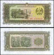Laos 10 Kip Banknotes Uncirculated UNC - Unclassified