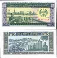 Laos 100 Kip Banknotes Uncirculated UNC - Bankbiljetten