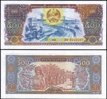 Laos 1988 500 Kip Banknotes Uncirculated UNC - Unclassified