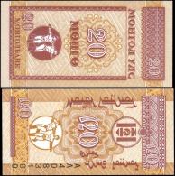 Mongolia 20 Mongo Banknotes Uncirculated UNC - Banknotes