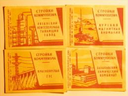 USSR 9 Pieces Matchbox Labels 1964 - Boites D'allumettes - Etiquettes