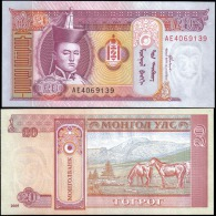 Mongolia 2005 20 Tugrik Banknotes Uncirculated UNC - Bankbiljetten