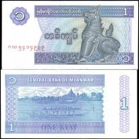 Myanmar 1996 1 Kyat Banknotes Uncirculated UNC - Unclassified