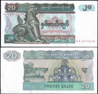 Myanmar 20 Kyats Banknotes Uncirculated UNC - Banknotes
