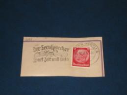D-Reich Deutches Reich 3. Reich Werbestempel 1937 Plauen Vogtland Der Fernsprecherspart Zeit Und Geld Telefon Telephone - Germany