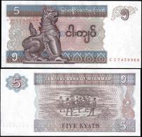 Myanmar 5 Kyats Banknotes Uncirculated UNC - Banknotes