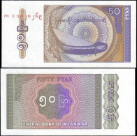 Myanmar 50 Pyas Banknotes Uncirculated UNC - Bankbiljetten