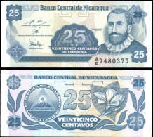 Nicaragua 25  Centavos Banknotes Uncirculated UNC - Banknotes