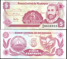 Nicaragua 5 Centavos Banknotes Uncirculated UNC - Banknotes