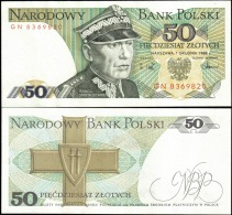 Poland 1988 50 Zlotych Banknotes Uncirculated UNC - Banknotes