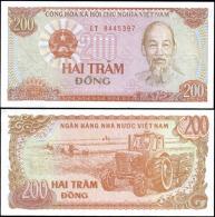Vietnam 1987 200 Dong Car Banknotes Uncirculated UNC - Bankbiljetten