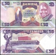 Zambia P28 50 Kwacha Eagle Banknotes Uncirculated UNC - Unclassified