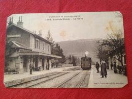 Cpa 25 PONT DE ROIDE La Gare Train - Other Municipalities
