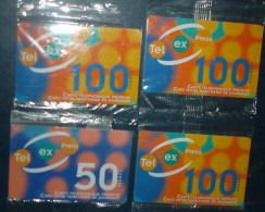 Lot De 4 Cartes Prépayées 100 Francs Et 50 Francs,neuves Sous Blister - Télécartes