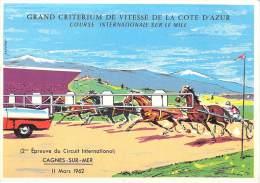 [06] Alpes Maritimes-CAGNES Sur MER (hippisme Chevaux) Grand Criterium De Vitesse De Côte D´Azur 11 Mars 1962 (mile) - Cagnes-sur-Mer