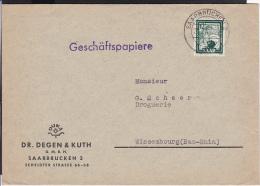 A21  /  Saarland Heimatbeleg / 280 EF Saarbrücken 1951 - Sarre
