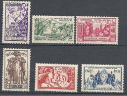NOUVELLE-CALEDONIE EXPO 1937 N° 166/71 NEUF* TTB - Nouvelle-Calédonie