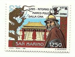 1996 - Italia Congiunta Marco Polo - San Marino - 6. 1946-.. Repubblica