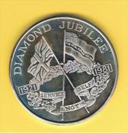 FICHAS - MEDALLAS // Token - Medal -  MEDALLA  LEGION REAL BRITANICA 1921/1981 London 4,5 Cm En Estuche Y Certificado - Royal/Of Nobility