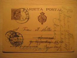 Nº36Acb (salmon + Direcciòn Backwards Accent) Postal Stationery Card CADIZ 1901 To Apenrade Flensburg Germany Spain - 1850-1931