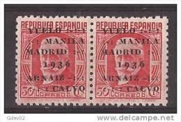 ES741-L3988TTA.España. Spain  Espagne. 1º VUELO MANILA-MADRID .Francisco Rein Loring. 1936 (Ed 741** Par) .LUJO - Aviones