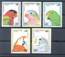 Mtw904 FAUNA VOGELS PAPEGAAI  PARKIET BIRDS PARROT VÖGEL AVES OISEAUX CAMBODGE CAMBODJA 1995 PF/MNH - Papageien