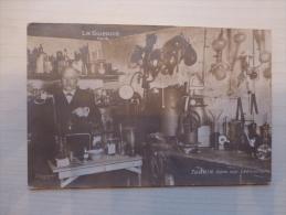 Guerre 14-18 TURPIN Dans Son Laboratoire, TB CP Photo, RARE ;  Ref 035 - Oorlog 1914-18