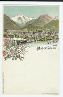1900s Suisse Gruss Aus Interlaken Vignette Ppc Unused - BE Berne
