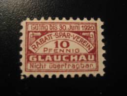 Glauchau 1920 Rabatt Spar Verein Poster Stamp Label Vignette Viñeta Germany - Allemagne