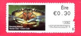 IRLANDA - EIRE - 2011 - USATO - Pesci - Fish - Green Crab - 0.30 - Usati