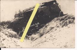 Juvincourt Aisne Char Français Détruit Carte Photo Us Poilus 1914-1918 14-18 Ww1 WWI 1.wk - War, Military