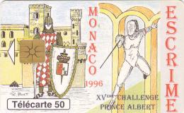 Phonecard Monaco  Escrime Used - Monaco