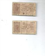 UNA LIRA --2 PEZZI - [ 2] 1946-… : Républic