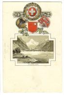 1900s Switzerland Fluelen Vignette , Coat Of Arms, Seal, Embossed Ppc Unused - UR Uri