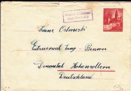 POLOGNE - GOUVERNEMENT GENERAL - 1941 - ENVELOPPE ENTIER POSTAL Avec RARE CACHET De ZABIERZOW Bei NIEPOLOMICE (KRAKAU) - Gobierno General