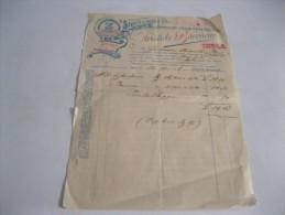 IMOLA( Bologna)aristide Baroncini Fabbricazione Salumi Di Carne Suina  Fattura Del 1902 - Italie