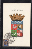 CARTE MAXIMUM ARMES D'ORAN 1955 VI FOIRE D'ORAN - Algeria (1924-1962)